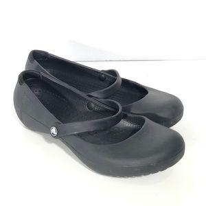 Crocs Black Mary Janes